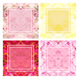 Set abstract floral backgrounds. With place for text vector illustration