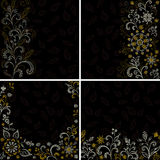 Set abstract floral backgrounds Royalty Free Stock Image