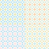 set of abstract floral geometrical seam Royalty Free Stock Image