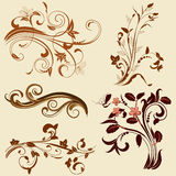 Set of abstract floral patterns Royalty Free Stock Photos