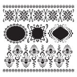 Set of abstract floral patterns. Ornament Stock Images