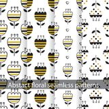 Set of abstract floral patterns. For wrapping paper, scrapbook paper, wallpaper Stock Photos