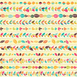 Set of abstract floral seamless brushes. Royalty Free Stock Photo