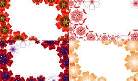Set of Abstract flower background with place for Royalty Free Stock Photos