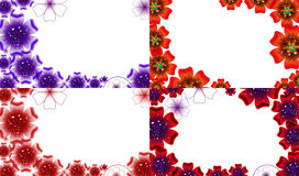 Set of Abstract flower background with place for Royalty Free Stock Images
