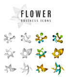 Set of abstract flower logo business icons Stock Photos