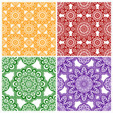 A set of abstract flower ornaments Stock Image