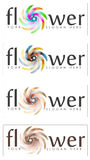 Set of abstract flower signs Stock Image