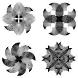 Set of abstract flowers Royalty Free Stock Images