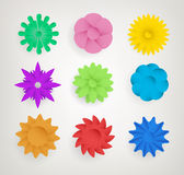 Set Of Abstract Flowers Royalty Free Stock Photography