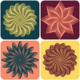 Set of abstract flowers. Vector. Set of abstract flowers on colorfull background. Vector illustration Stock Images