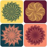 Set of abstract flowers. Vector. Set of abstract flowers on colorfull background. Vector illustration Stock Image