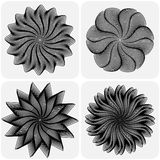 Set of abstract flowers. Vector. Set of abstract flowers on white background. Vector illustration Stock Photo