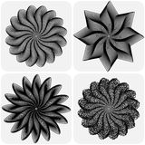 Set of abstract flowers. Vector. Set of abstract flowers on white background. Vector illustration Royalty Free Stock Photography