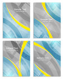 Set of abstract flyer or cover design template, brochure, folder for business presentation Stock Photography