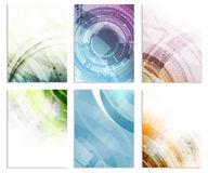 Set of abstract flyer template, magazine, brochure, cover design or corporate banner stock illustration