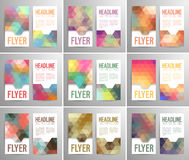 Set of abstract flyer template with place for text. Royalty Free Stock Image