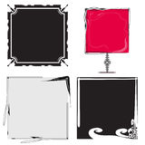 Set of abstract frames Royalty Free Stock Image