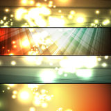 Set of abstract frames Royalty Free Stock Photography