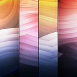 Set of abstract frames. Abstract background with multicolored flowing lines, this illustration may be useful as designer work Stock Photo