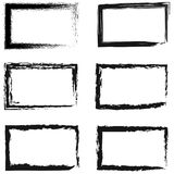 Set of abstract frames for photos or pictures. Vector frame painted by hand drawing, Grunge Black and White Borders  on the transparent background. Dirt effect Royalty Free Stock Images