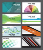 Set of Abstract fresh funky visiting cards, can be used professionally. Stock Photography