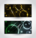 Set of abstract futuristic cards Stock Photos