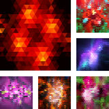 Set of abstract geometric backgrounds. Royalty Free Stock Image