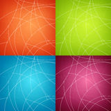 Set of Abstract Geometric Backgrounds Royalty Free Stock Images