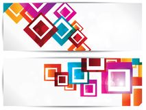 Set of abstract geometric backgrounds royalty free illustration