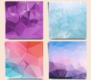 Set of abstract geometric backgrounds Royalty Free Stock Image