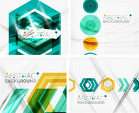 Set of abstract geometric backgrounds. Waves Royalty Free Stock Images