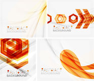 Set of abstract geometric backgrounds. Waves Stock Photography
