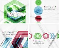 Set of abstract geometric backgrounds. Waves Royalty Free Stock Image
