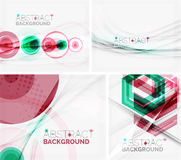 Set of abstract geometric backgrounds. Waves Royalty Free Stock Photography