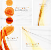 Set of abstract geometric backgrounds. Waves Stock Image