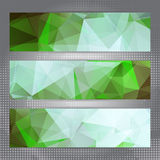 Set of abstract geometric banners Royalty Free Stock Photography