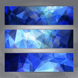 Set of abstract geometric banners Stock Photos