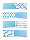 Set of abstract geometric banners Stock Photography