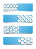 Set of abstract geometric banners Royalty Free Stock Photo