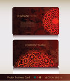Set of abstract geometric business card Stock Images