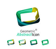 Set of abstract geometric company logo frame Stock Photo
