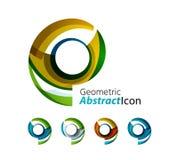 Set of abstract geometric company logo ring Stock Photo