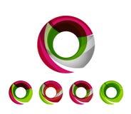 Set of abstract geometric company logo ring Royalty Free Stock Photo