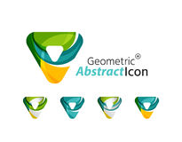 Set of abstract geometric company logo triangles Royalty Free Stock Photography