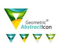 Set of abstract geometric company logo triangles Royalty Free Stock Photos
