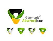 Set of abstract geometric company logo triangles Stock Photos