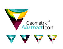 Set of abstract geometric company logo triangles Stock Image