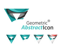 Set of abstract geometric company logo triangles Royalty Free Stock Photos