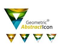 Set of abstract geometric company logo triangles Stock Image